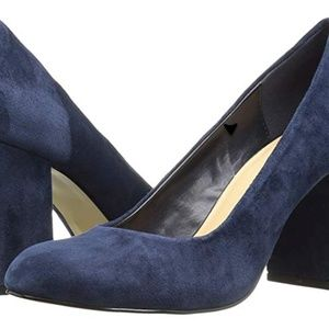 New in Box! Bella Vita Navy Suede Block Heels